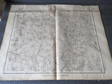 民国地图  1412 山东省 潍县 南流  中华民国十三年测量 十四年制版 二十二年印刷 参谋部测量局 58*45厘米