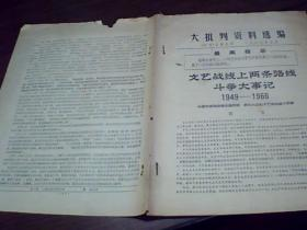 文艺战线上两条路线斗争大事记(1949—1966)