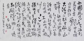 當代藝術家協會副主席王丞手寫!! 沁園春雪19145