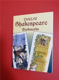 Shakespeare Bookmarks (莎士比亚戏剧书签)一册12枚