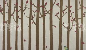 青年画家 周正 2012年亲笔签名 丝网版画《落英缤纷》一幅(版号随机、所售编号20-80/90,作品得自于艺术家本人!)  HXTX115833