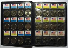 带册美国国家公园25美分纪念币2010-2018年45枚超级大全套卷拆UNC