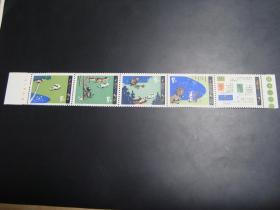 邮票  T51  咕咚  新全 带厂铭 色标