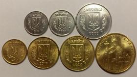 乌克兰硬币7枚套外币收藏外国钱币