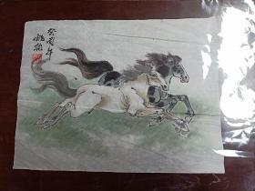 著名连环画家国画家姚柏老师      原稿国画    《神驹图》.
