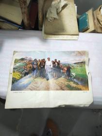 毛主席视察广东农村(油画)