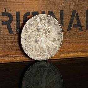 1900年美国自由女神纪念银元 1盎司外国银币仿古钱币硬币收藏礼品