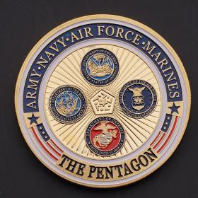 美国军事纪念币纪念章徽章收藏海军陆军空军海军陆战队创意摆件