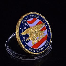 美国海豹特种部队海军纪念勋章挑战币硬币徽章收藏纪念品金币