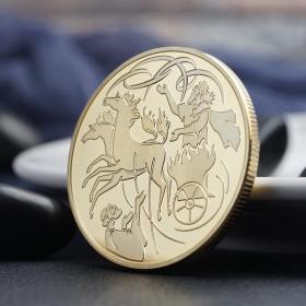 以色列硬币圣经利亚金币 风中的以亚纪念金币先知信仰幸运币