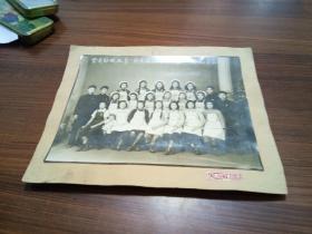 老照片---云南纺织厂第一期先进工作法结业合影【1952.8.31.】长20.00CM...宽15.00CM
