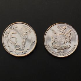 【非洲】纳米比亚5分硬币外国钱币单枚硬币2015年KM#NEW
