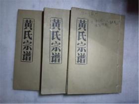 黄氏宗谱 3卷全