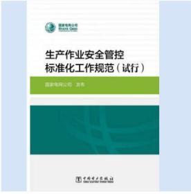 生产作业安全管控标准化工作规范(试行) 5本起售