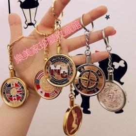 纪念币专用钥匙圈 内径40mm鹰龙洋银元银圆熊猫银币盎司币钥匙圈