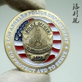 美国城市纪念币洛杉矶硬币 军迷徽章系列大天使圣米歇尔纪念币