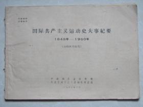 国际共产主义运动史大事纪要【1948-1960】