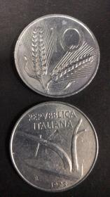现货意大利10里拉硬币 50枚散装 年份随机发货
