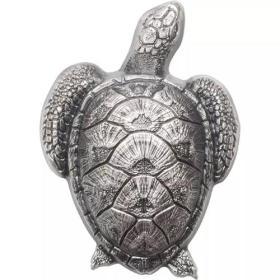 2017年帕劳发行海龟10元异形仿古纪念银币