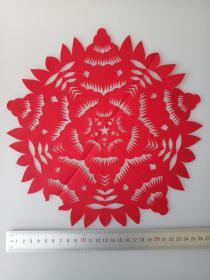 手工窗花一种 传统手工剪纸 民间艺术 未托裱 (年代:2000年)