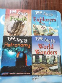 miles Kelly 100 facts:explorers、asrronomy、world wonders、fossils【共4本合售,详情看图】