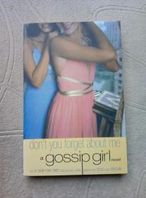 Don`t you forget about me a gossip girl novel