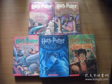Harry Potter Paperback Box Set 哈利波特【英文版】 【5本合售1、2、3、4、5】32开