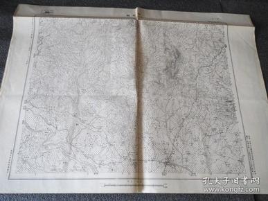 民国地图  1419 山东省 诸城县 日照县   中华民国元前三年测量 二十六年制 国防测量局 58*45厘米