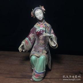 當代瓷雕名家林偉東作品 拉琴少女擺件一個 高23公分,寬14公分,特價1200包郵。