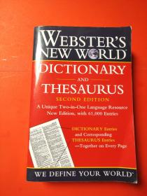 WEBSTERS NEW WORLD DICTIONARY AND THESAURUS