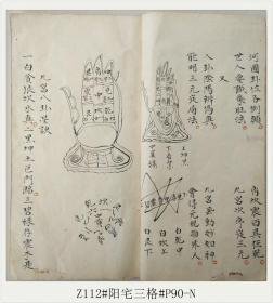 Z112#阳宅三格#P90-N/清代古籍善本/孤本手抄本