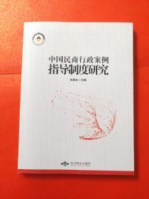 中国民商行政案例指导制度研究