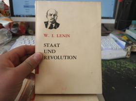 (德文版) W.I.LENIN --STAAT UND REVOLUTION 列宁--国家与革命(馆藏本)
