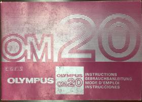 《olympus-om20》奥林帕斯照相机原版说明书(小库)