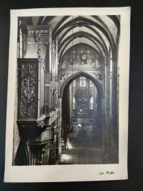老 明信片 德国 黑森林 弗莱堡 教堂