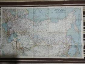 National Geographic国家地理杂志地图系列之1944年12月 Union of Soviet   二战时期苏联地图