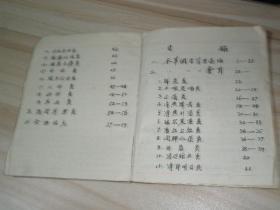 中医手抄本药方集