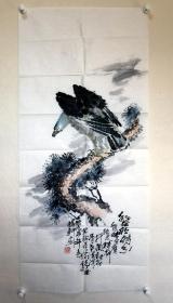 云南画家-夏扬先(夏梓轩)—《鹰》
