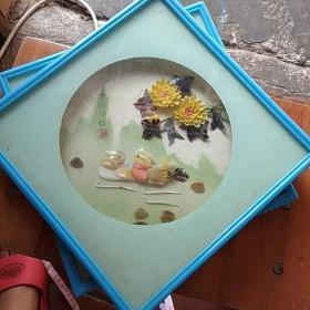 貝殼畫 幸福伴侶