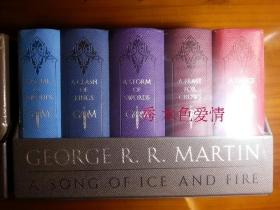 冰与火之歌口袋皮革收藏版豪华版George R. R. Martins A Game of Thrones Leather-Cloth Boxed Set