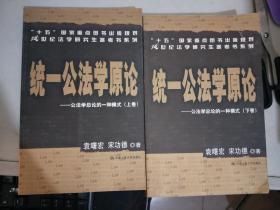 统一公法学原论:公法学总论的一种模式(上下卷)
