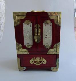 八十年代木质漆器首饰箱