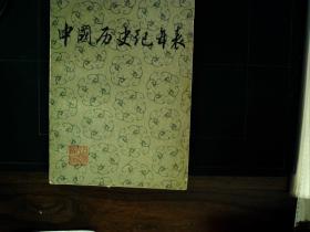 G456 上海人民出版社1976年初版:中国历史纪年表  一册,品佳