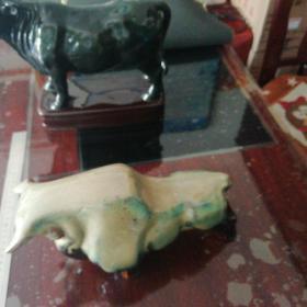 陶瓷(牛)牛身上有几片掉瓷片