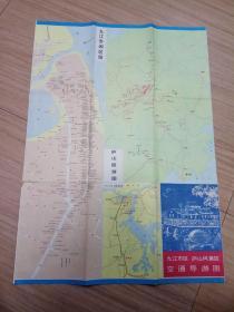 九江市区庐山风景区交通导游图