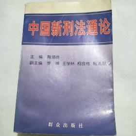 中国新刑法通论