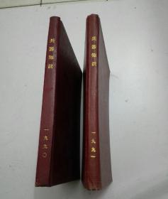 兵器知识-合订精装本(1990,1991)-两本合售