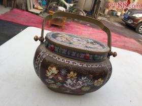 景泰蓝  老铜壶重2,68公斤包老包真   请以图为准