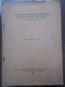 民国版【1939年,英文版,水生古生物书】