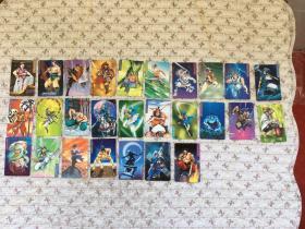 统一小浣熊〈水浒英雄传〉卡片、27张合售不重复、品佳
